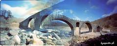 by accident... (kzappaster) Tags: bridge 120 6x6 film mediumformat holga kodak doubleexposure pinhole greece stenope stonebridge 160asa epirus zagori kodakpro160 pro160 kalouta 120wpc koutsoulekkou