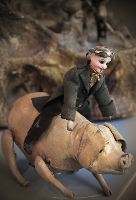Pig rider- clockwork toy, Germany, 1890