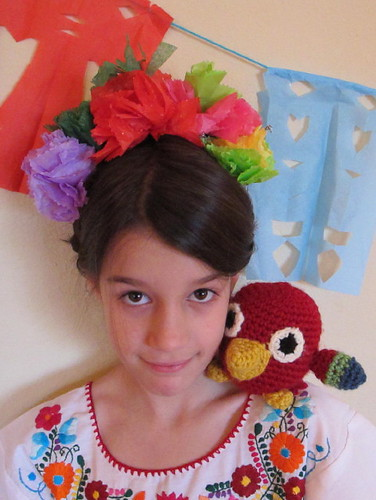 Her own Frida parrot that I made for her