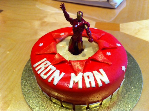 Iron Man cake ($70 inc figure)