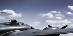 (Colin Bowdery) Tags: sky cloud plane vintage aircraft b17 american duxford bomber amarican