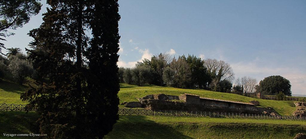 Tapis de verdure et vestiges de Rome, ville Impériale