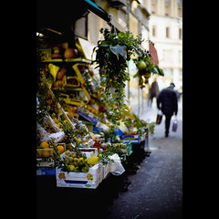 Dangerous oranges (Sator Arepo) Tags: leica italy food milan vegetables shop fruit 50mm store lemon italia bokeh milano streetphotography rangefinder f1 noctilux oranges godfather m9 greengrocers fruitstore fruitshop puzo vegetablestore leicam9