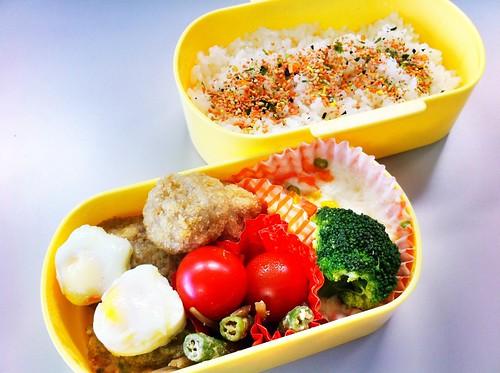 今日のお弁当 No. 128 – 鮭わかめ
