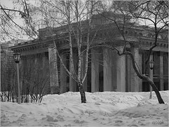 theatre (noookm) Tags: street city winter bw white black cold subway town photo olympus siberia freeze portret novosibirsk       undergroun