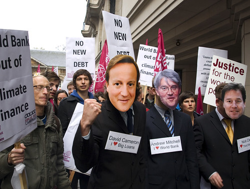 Cameron, Clegg and Mitchell - no debt!