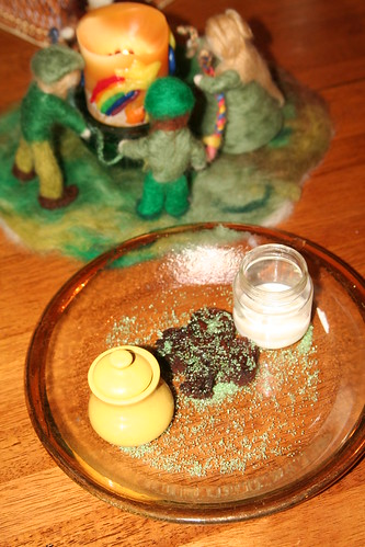 Treats for Leprechauns (Milk, Honey, and a Brownie)