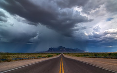Monsoon Over The Superstitions (Matt Granz Photography) Tags: road desktop wallpaper arizona storm mountains nature weather clouds landscape photography nikon hwy tokina monsoon superstition 1224mm hdr d90 photomatix mattgranz visipix