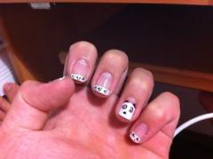 Unhas panda *.* (@juh__campos) Tags: big panda nail bonita hits impala risque unha colorama francesinha