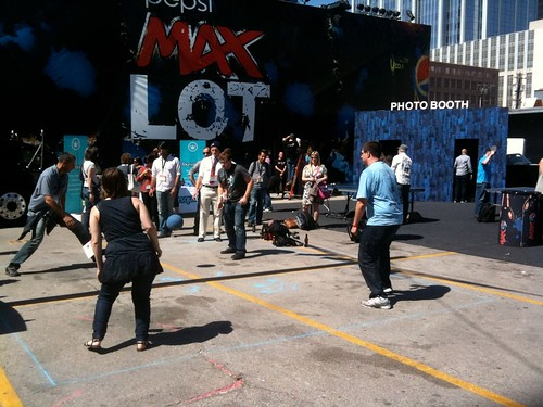 foursquare court on the Pepsi MAX lot