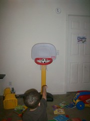 shooting the rock (tamaraslife) Tags: basketball little bball tikes