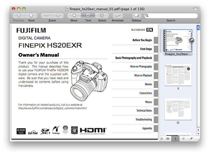 Fuji F550 EXR Manual