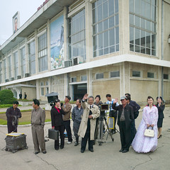Footage in Pyongyang airport - North Korea (Eric Lafforgue) Tags: film movie airport war asia korea crew actress actor shooting asie director coree northkorea footage pyongyang dprk coreadelnorte nordkorea    coreadelnord   insidenorthkorea  rpdc  kimjongun coreiadonorte  a1214487