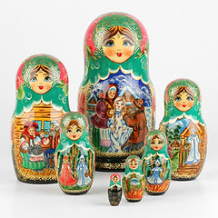 Russian Fairytales Set of Nesting Dolls (The Russian Store) Tags: matrioshka matryoshka russiannestingdolls  stackingdoll  russianstore  russiangifts  russiancollectibledolls shoprussian