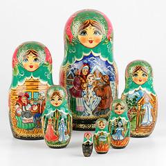 Russian Fairytales Set of Nesting Dolls (The Russian Store) Tags: matrioshka matryoshka russiannestingdolls  stackingdoll  russianstore  russiangifts  russiancollectibledolls shoprussian