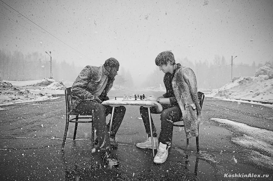 Шахматы под снегом 2549