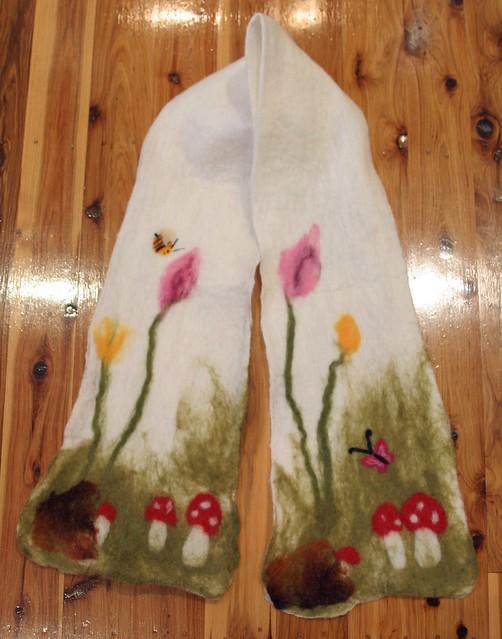 mushroom scarf