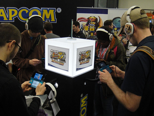 WonderCon 2011 - trying out Super Street Fighter IV for the Nintendo 3DS at the Capcom booth