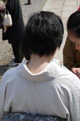 Nape of woman in kimono