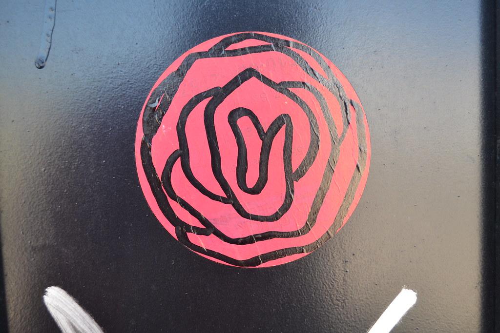 ASH ROSE - Oakland, CA, Graffiti, Street Art, sticker