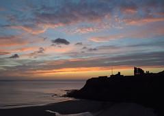 Tynemouth-predawn (321dustymix) Tags: tynemouth dawn sunrise colour clouds coast coastal sea seascape building priory headland silhouette beach tide northtyneside