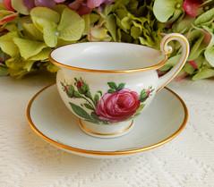 Antique Furstenberg German Porcelain Cup & Saucer ~ Rose ~ Gold (Donna's Collectables) Tags: antique furstenberg german porcelain ~ rose gold china thanksgiving christmas