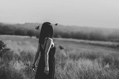(Delissa McWilliams Photography) Tags: delissamcwilliamsphotography portrait blackwhite blackwhitephotos butterflies field guidance abstract conceptual concept fineart richmond park fog