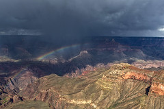DSC_0015-17 yavapai point rainbow hdr 850 (guine) Tags: grandcanyon grandcanyonnationalpark canyon storm clouds rocks rainbow hdr qtpfsgui luminance
