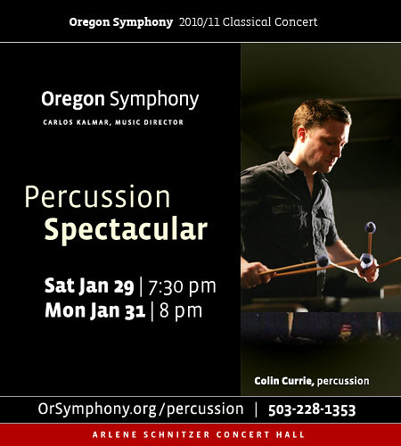 Oregon Symphony Presents PERCUSSION SPECTACULAR @ Alene Schnitzer | Percussion Wizard Colin Currie