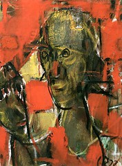Rohlfs, Christian (1849-1938) - 1900c. Woman with Mask (RasMarley) Tags: portrait german painter 1900 expressionism 20thcentury tempera 1900s rohlfs womanwithmask christianrohlfs