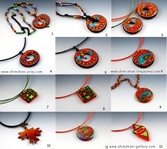 12 pc pendants (_shimshoni) Tags: jewelry polymerclay hogs pendants shimshoni