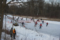 Pond Hockey Tournament, Rawden Creek, Stirling...