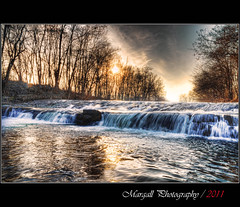 The waterfall on the river Grana - HDR - San Pietro del Gallo - Cuneo - Italy (Margall photography) Tags: winter italy motion water canon river waterfall long italia fiume sigma piemonte exposition marco acqua inverno cuneo hdr lunga esposizione 30d exp grana galletto margall