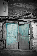 Forgotten.. (Pahas.) Tags: door old europe doors village greece selectivecolorization florina prespes
