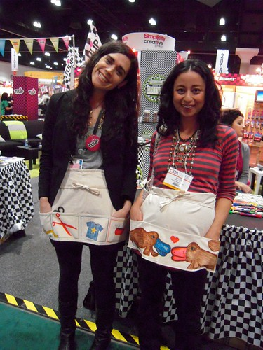 megan & sonya in their cute aprons from ILTC booth