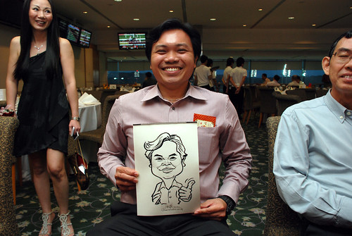 caricature live sketching for Thorn Business Associates Appreciate Night 2011 - 8