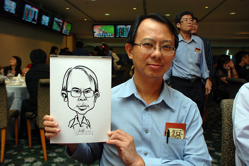 caricature live sketching for Thorn Business Associates Appreciate Night 2011 - 18