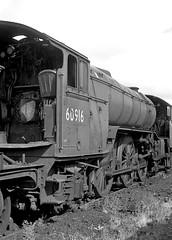Ex-LNER class V2 no.60916. Swindon scrap line. 20 September 1964 (ricsrailpics) Tags: uk swindon steam 262 1964 gresley classv2 scrapline exlner