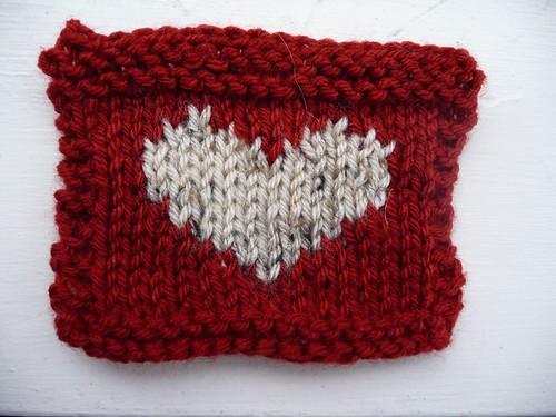 Intarsia Heart Swatch