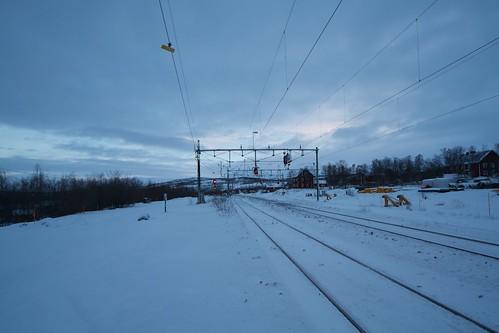 Train line in Abisko
