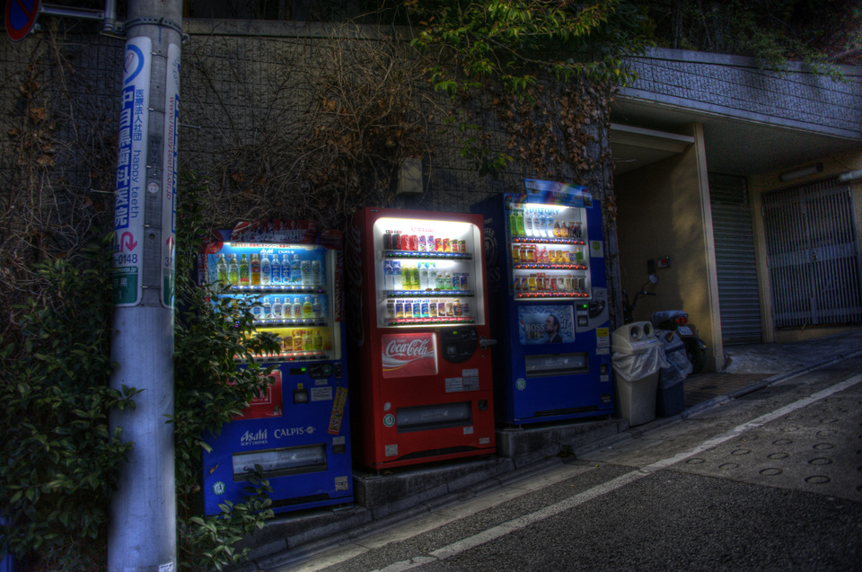 A little bit of character about this vending machine trio