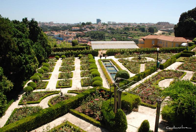 jardins românticos do Palácio de Cristal