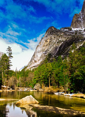 yosemite! (: (littlianxd) Tags: mountain lake mountains water rock canon eos is rocks lakes f yosemite rivers mm 18 55 35 efs lanscape 56 500d t1i
