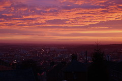 sheffield sunrise (fridaywizard) Tags: sunset sunrise sheffield pinksky top20sunsetsofourhearts