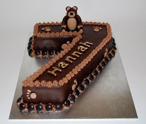 Hannah's Number 7 Birthday Bear Cake – Beautiful Birthday Cakes