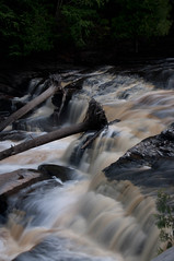 Stopped Trees (scottwarrenphoto) Tags: statepark waterfall stam porcupinemountains presqueisleriverscenicarea
