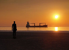 And watch e'm roll away again (Mr Grimesdale) Tags: sunset seascape liverpool gormley crosby antonygormley merseyside anotherplace rivermersey stevewallace mrgrimesdale