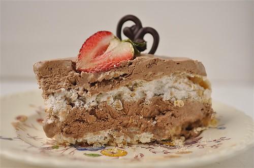 Chocolate Mousse Meringue Desser