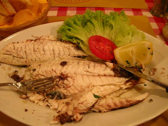 魚料理のフリー写真素材