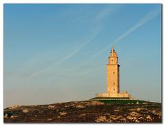 Torre de Hrcules (MarCaLo) Tags: blue sky lighthouse tower azul architecture faro arquitectura corua torre galicia cielo worldheritage torredehercules herculestower patrimoniodelahumanidad casadelospeces